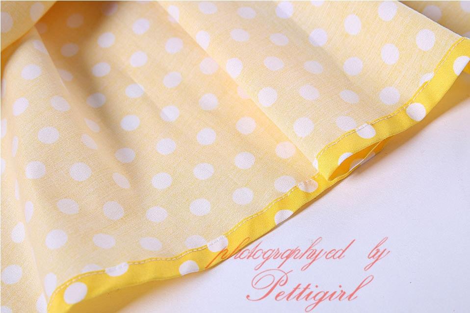 Image 5 - Pettigirl Snow White Girls Costumes Summer Dress Yellow Dot Baby Girl Cotton Dressprincess girl dressgirls dressgirls dresses yellow -