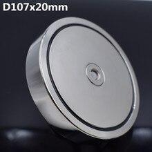 Неодимовый магнит d107x20 мм, супермощный Магнитный Крючок для поиска, 550 кг, Магнитный Постоянный держатель NdfeB для рыбалки