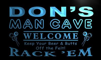 x0135-tm Dons Man Cave Pool Room Custom Personalized Name Neon Sign Wholesale Dropshipping On/Off Switch 7 Colors DHL