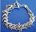 Hot sell  new Tibetan silver bracelet with Chinese dragon for men & DFX54G