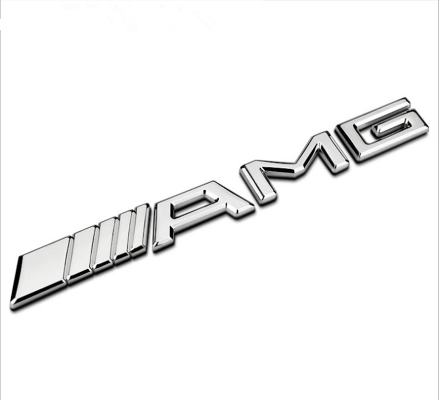 Automobile modeling 3D AMG metal sticker For Mercedes W203 W210 W211 W204 Benz C E S CLS Automobile decoration modeling