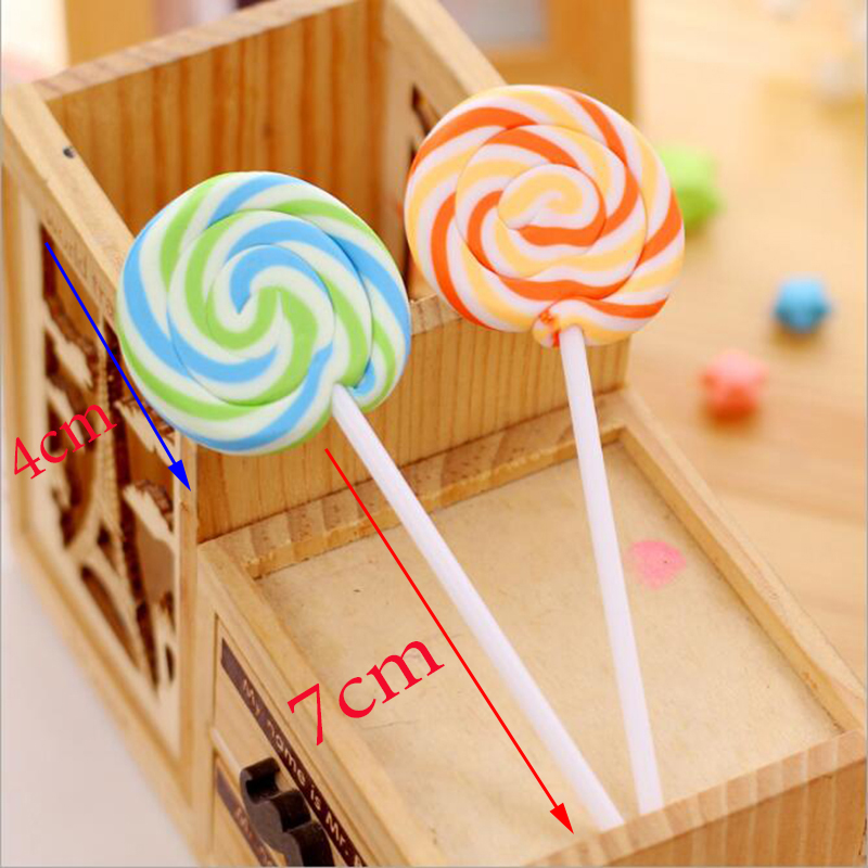 1pc Creative Cartoon Cute Candy Eraser Novelty Gifts Children Student Gifts Stationery School Office Supplies (Color Random)