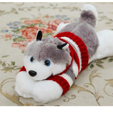 40CM  HOT Siberian Husky lies prone dog plush toy dog doll creative Valentine's Day gifts for the kids