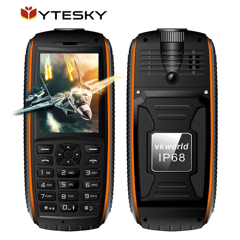 Цена за Оригинал Vkworld Stone V3 MAX IP68 Водонепроницаемый Мобильный Телефон 5300 мАч Длительным Временем Ожидания 2.4 inch FM Радио Анти Low Temperature Мобильного Телефона