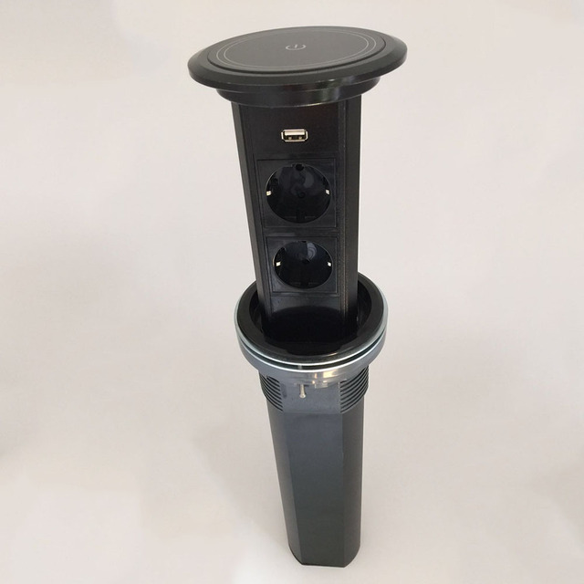 حامل شاشة تعمل باللمس/مقبس سطح مكتب منزلي ذكي/2 مصدر طاقة قياسي أوروبي مع مقبس مطبخ شحن usb/TM 002