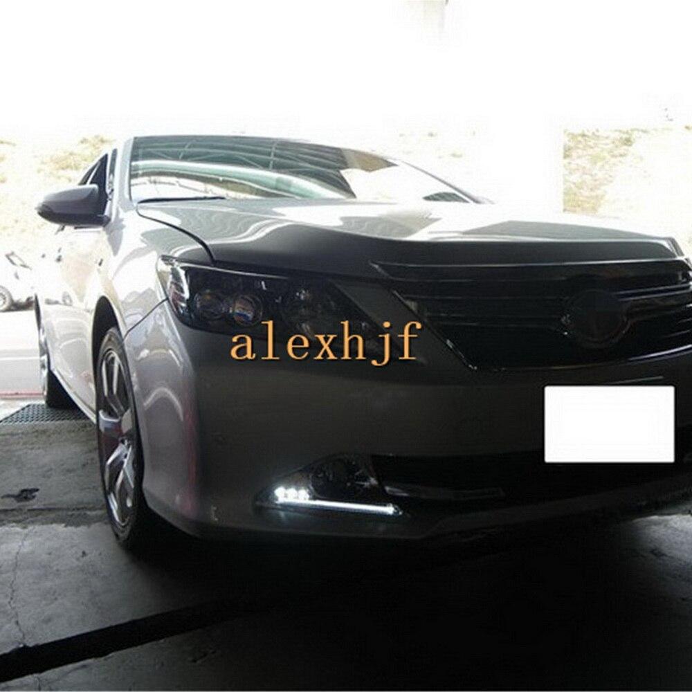 Июля King свет руководство Габаритные огни + 3 светодиода ДРЛ покрытие туман Рамки чехол для Toyota Camry 7th Aurion 2012 ~ 14