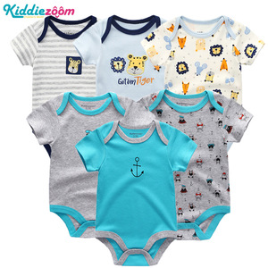 Image 2 - Newborn Baby Rompers Boys/Girls Playsuits Clothes 100%Cotton Striped Cute Jumpsuit  Infant Girl Body Romper Clothing for 0 1Year