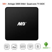 M9+ Android tv box Amlogic S902 Quad-Core 64-bit Android 5.1 OS 1GB RAM 8GB ROM 2.4G WIFI Support DLNA,Miracast 4K Set top box