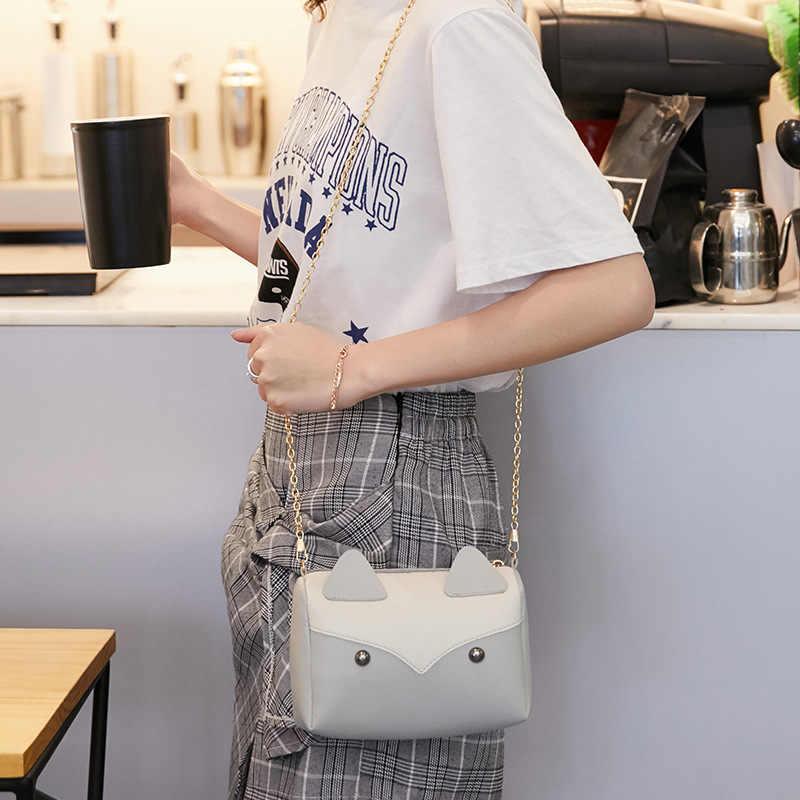 Saco Do Mensageiro saco de ombro versão Coreana da primavera e no verão de moda de nova rede gato vermelho correspondência de cores cabeça travesseiro saco