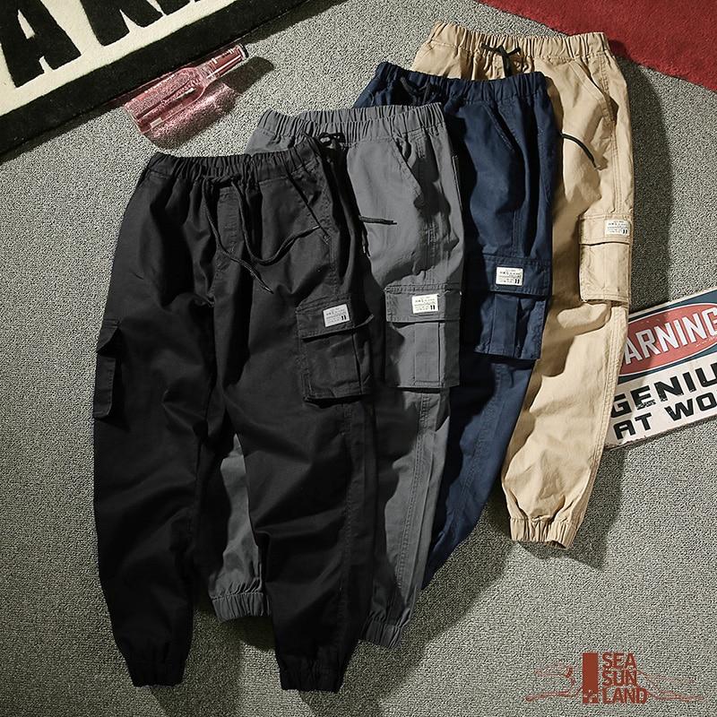 Mens Casual Pants Loose Cargo pants Male Camouflage Cotton Trousers Pencil Harem Pants Hip Hop Outwear