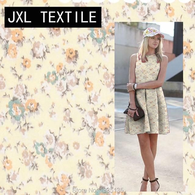 6a45ed113227f 2018 fleur imprimé mode vêtement jersey tissu pour couture pantalon robe  jupe chaussettes T-shirt