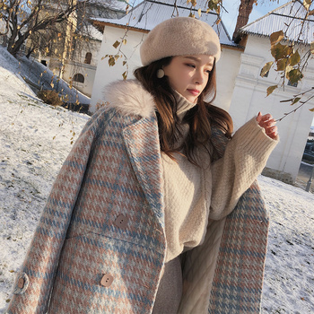 Mishow 2019 Women Coat outerwear winter clothing fashion warm woolen blends female elegant Double Breasted woolen coat MX18D9679 1