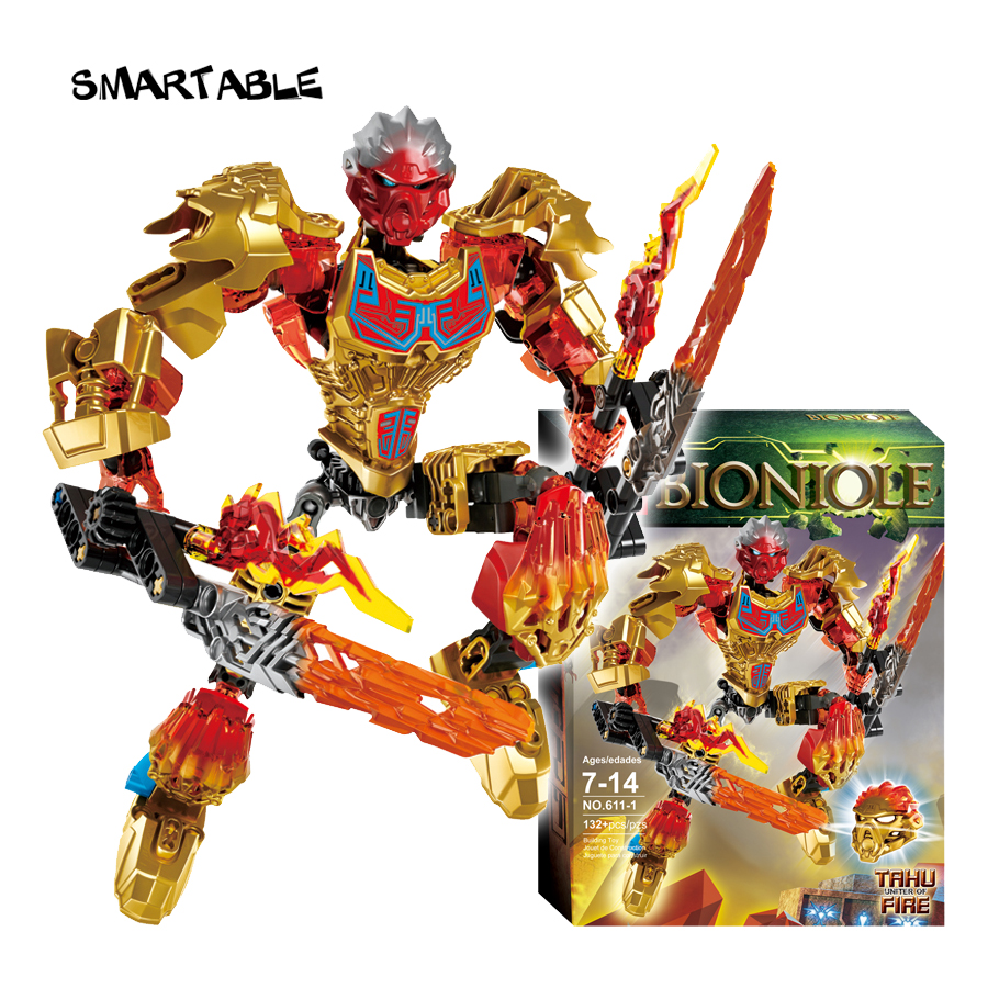 BIONICLE-serien 4 st / set Earth ICE Fire Hunter Action Figurer 611 - Byggklossar och byggleksaker - Foto 3