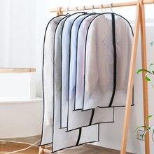 Ropa impermeable bolsa de almacenamiento de polvo con cremallera para ropa vestido ropa bolsa de abrigo organizador de almacenamiento al vacío