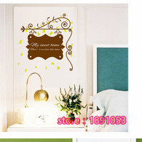PVC Removable Wall Stickers Living Room Bedroom Cozy Home My Wedding Room Design Living Room Sofa