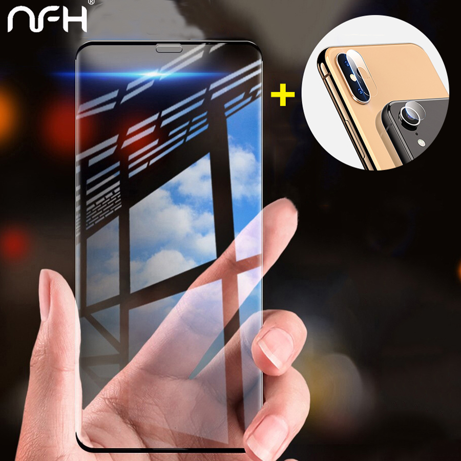Tempered Glass Film For iPhone 7 8 6s plus iPhone 11 pro max Xs Max XR Edge Screen Protector Camera protective film in Phone Screen Protectors from Cellphones Telecommunications
