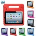 YUNAI Новый Для iPad Air 2 Smart Case Противоударный Пена Ручкой стенд Для Ipad 6 Case Обложка Дети Защитный Чехол Case Для дети