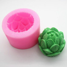 3d silicone soap molds handmade Lotus scented candle mold