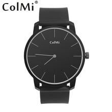 Продажа Colmi кварцевые часы smart ультра тонкий шагомер уведомления круглый bluetooth кожа наручные Повседневное часы для Android и iphone