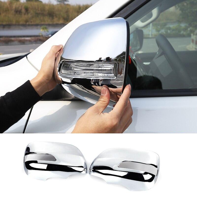 Pour Toyota Prado FJ150 FJ 150 2010 2011 2012 2013 2014-2018 ABS plastique porte latérale rétroviseur couverture accessoires de voiture 2 pièces