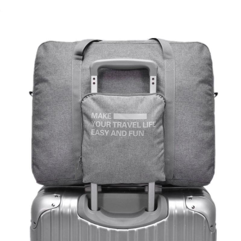 LHLYSGS Brand Women Fashion Large Capacity Trolley Travel Bag Mens Waterproof Su