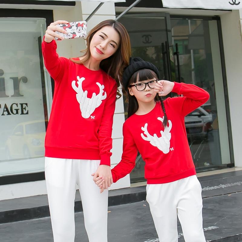 Rahat Aile Eşleştirme Kıyafet Bakmak Noel Geyik Tops Giyim Aile - Çocuk Giyim - Fotoğraf 4