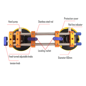 Image 3 - Raizi 2 Chiếc Liền Mạch Đường May Setter Tham Gia San Lấp Mặt Bằng Đá Hoa Cương Đá Lật Số Để Bàn Dụng Cụ Lắp Đặt Với 6 Inch Hút Chân Không Hút
