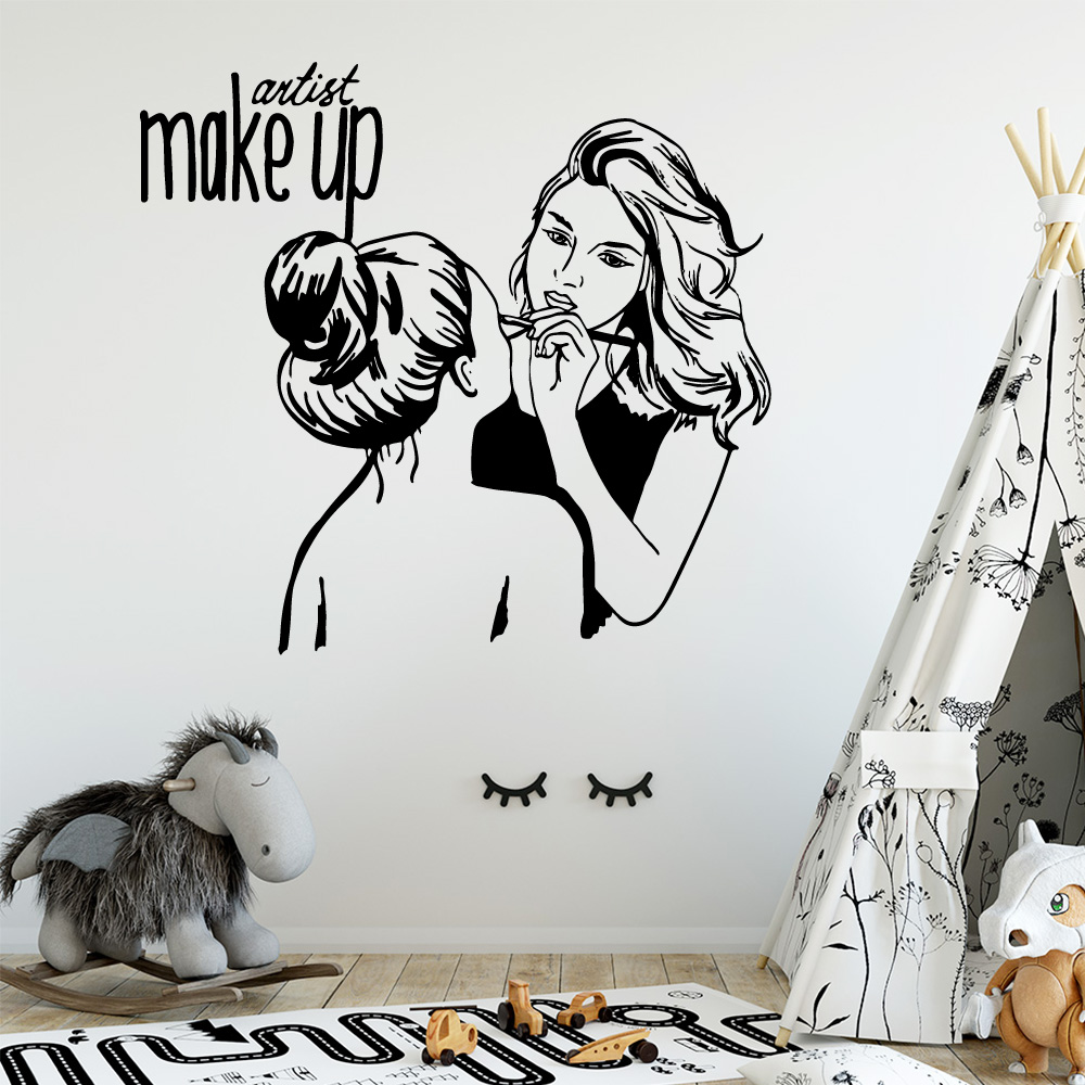 Nordic beauty salon Pvc Wall Decals Home Decor For Baby Kids Rooms Decor Wall Art Decal wallstickers