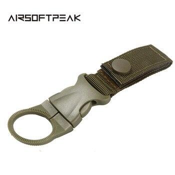 Nylon Molle Webbing Water Bottle Carabiner Belt Backpack Hanger Hook Outdoor Buckle Holder Clasp Tool Clip Hunting Accessories 4