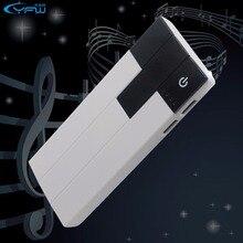 YFW 12000มิลลิแอมป์ชั่วโมงเปียโนธนาคารอำนาจ18650แฟชั่นการออกแบบแบบพกพาชาร์จชุดแบตเตอรี่ภายนอกสำหรับiPhone 6วินาทีXiaomi MP3แท็บเล็ต