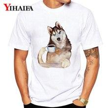 Summer 2019 T-Shirt Men Women Funny Dog 3D Print Animal Graphic Tees Casual Unisex Tops Hip Hop White Tee Shirts цена