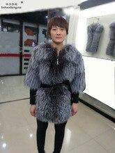 Linhaoshengyue 5 минут рукава чернобурки долго во время Весна и осень 2014 пальто с мехом одежда