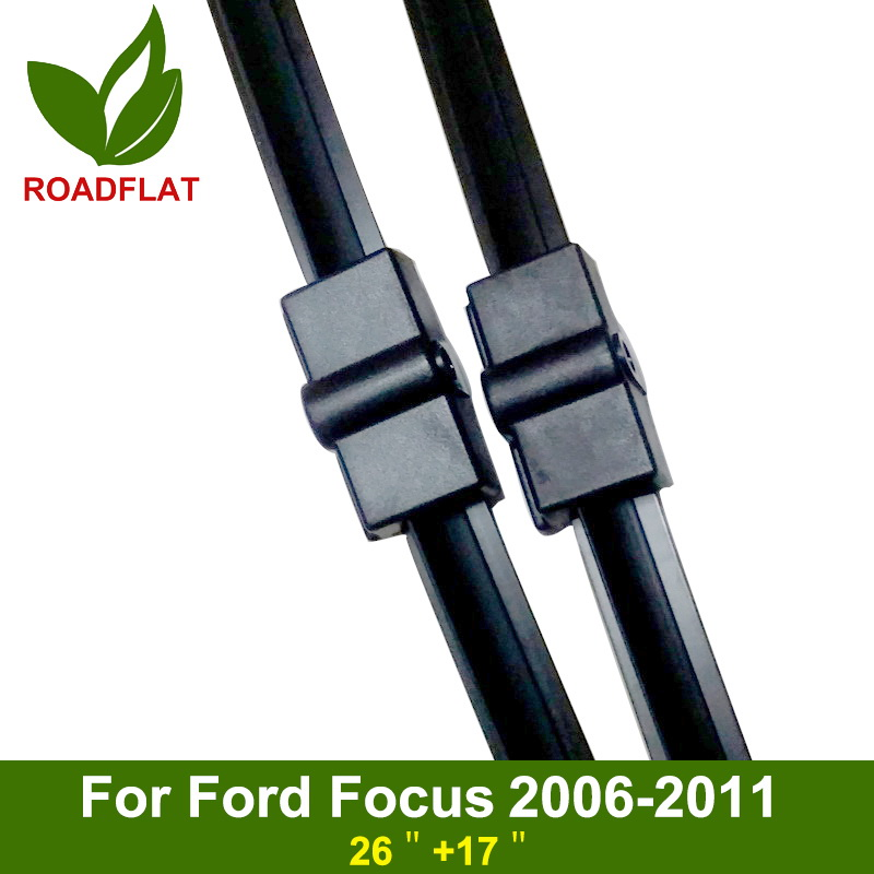 High Quality 2pcs (Size 26'+17') Soft Rubber Strip Boneless Car Wiper Blades Windscreen Brush For Ford Focus 2 Auto Styling S530