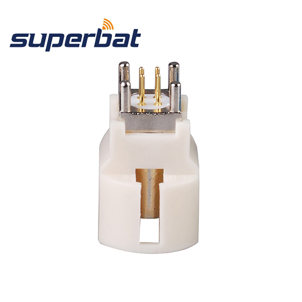 Superbat 10pcs Fakra B White/9001 HSD Connector Male Plug PCB Mount RF Coaxial Connector For Wireless And GPS Applications