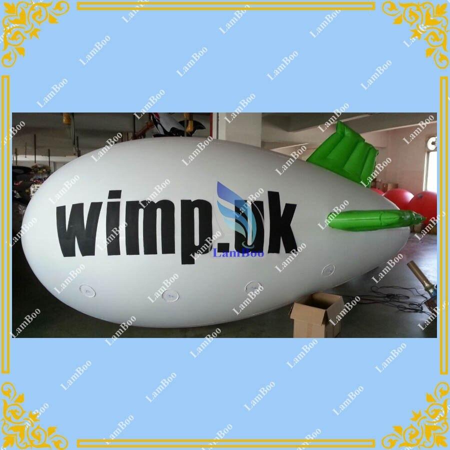 4 м долго надувная реклама дирижабль/zeppeline с различными LOGO, как вы хотите/
