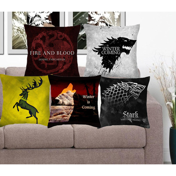 Cushion Cover Game Of Thrones Polyester Pillowcase Sofa Home Decorative Throw Pillow Funda Cojin Housse de coussin