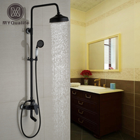 Good Quality Single Handle Swivel Tub Shower Faucet Set Wall Mount 8 Brass Shower Head With