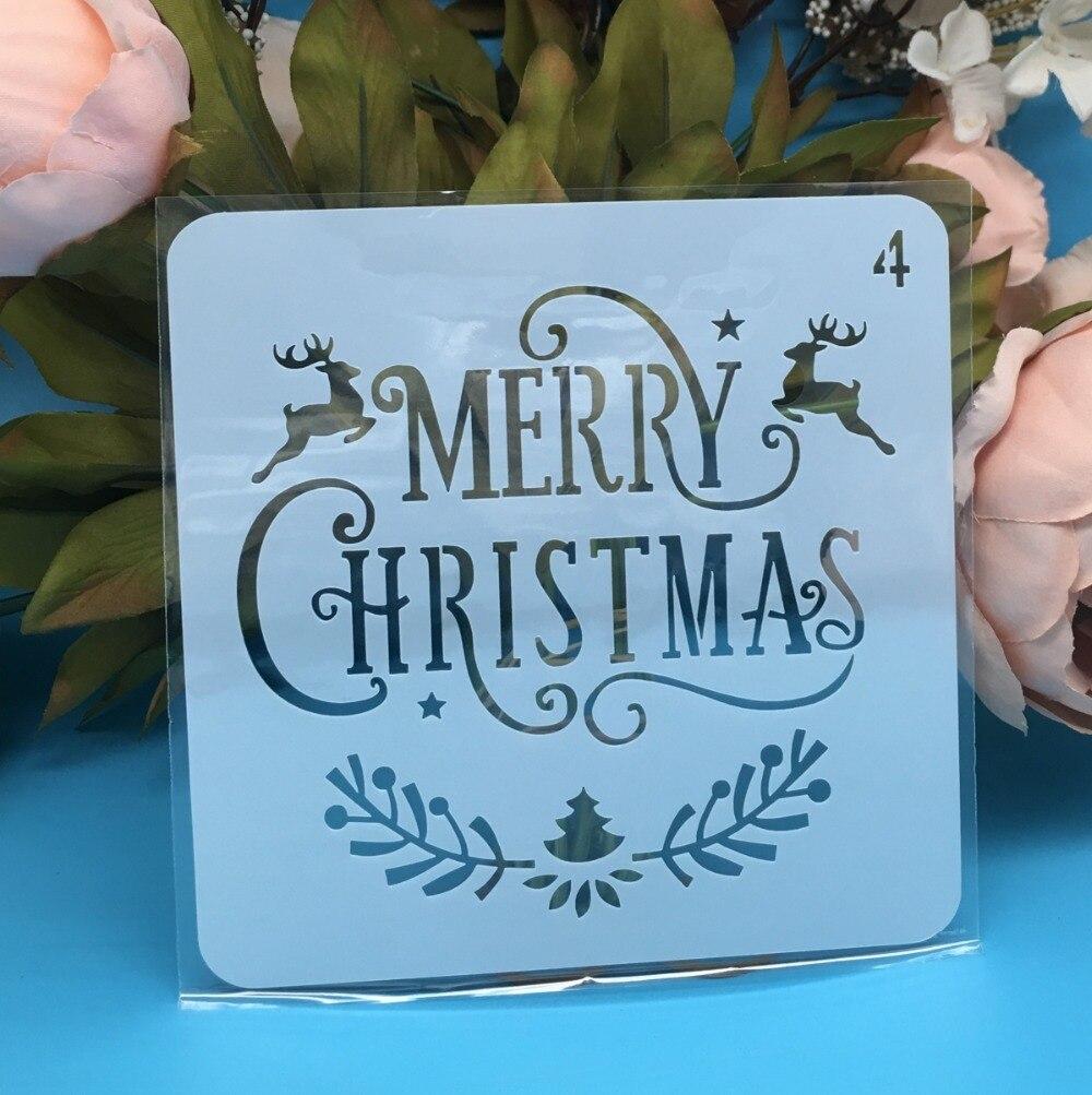 New 5inch Christmas Deer Tree DIY Layering Stencils Wall Paint Scrapbook Coloring Embossing Album Decorative Paper Card Template