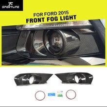 Mustang Carbon Fiber Samochodów Światła Przeciwmgielne Z Przodu Pokrywa Czapki dla Ford 2015