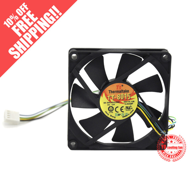 NEW FOR EVERFLOW Thermaltake TT A8015L12S 8015 8CM 4PIN PWM 12V 0.28A  cooling fan
