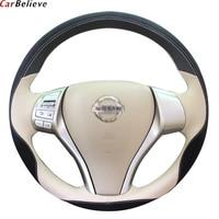 Car Believe Genuine car steering wheel cover For nissan almera n16 tiida teana murano qashqai j10 steering wheel car accessories