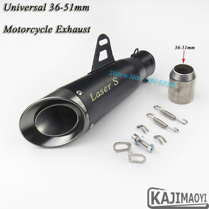 Laser Marking Motorcycle Exhaust Pipe Modified Muffler Scooter Moto Exhaust For HONDA CBR500 NC700 Kawasaki Ninja300 Z900 R6 R25 modified full system motorcycle exhaust mid link front pipe motorbike laser marking muffler for honda cbf190 cbf190r cb190r