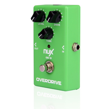 NUX OD-3 Overdrive guitarra eléctrica del Pedal del efecto Ture Bypass verde de alta calidad Pedal de efectos de guitarra