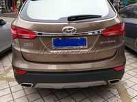 ABS Plastic Chromed Rear Trunk Lid Cover For 2013 Up Hyundai Santa fe IX45