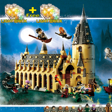 Legoing harri potter 75954 Hogwarts castle set figure playmobil Building Blocks Bricks DIY Toys Compatible with Legoings 16052(China)