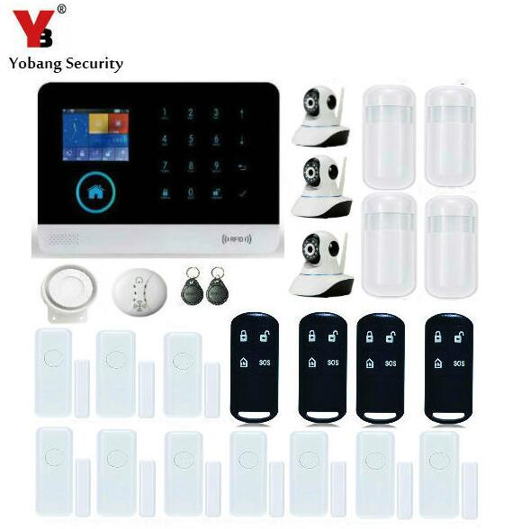 Yobang Security-HD WIFI IP Camera Surveillance System APP Control Smart Home Control Voice Prompt Shop House Factory Alarm Kits