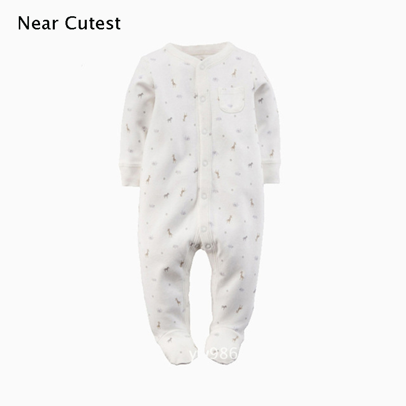 Near Cutest Baby   Romper   2017 Autumn Winter Cotton Long Sleeve Baby Boy Girl Clothes One Piece Jumpsuit Underwear Baby Clothing