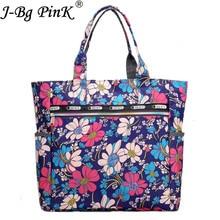 J-BG PinK Women Messenger Bags Print Floral Cross Body Shoulder Canvas Hobo Bag big Nylon Women's Handbag Bolsas Femininas цена