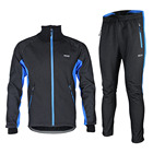ARSUXEO Thermal Cycling Jacket Sets Winter Warm Bicycle Clothes Windproof Waterproof Soft Shell Coat MTB Bike Clothing
