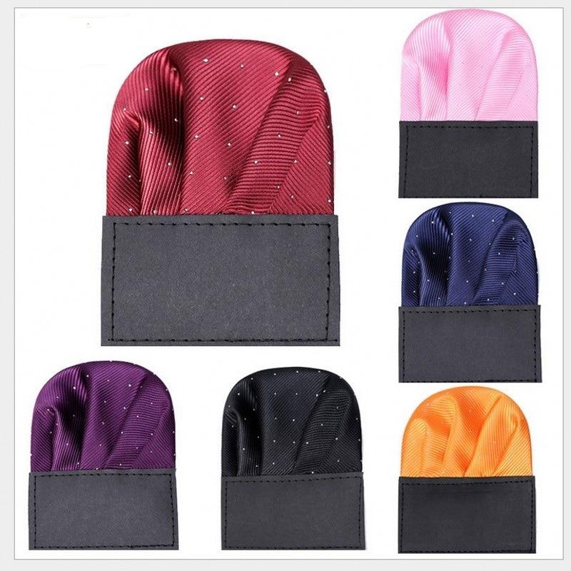 Fashion Dots Suits Pocket Square For Men Business Chest Hanky Gentlemen Hankies Classic Suit Napkin Handkerchief